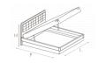 Кровать Altea 160х200 с под.мех.Luna