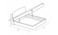 Кровать Cleo 160х200 с под.мех.Luna