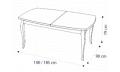 Стол прямоугольный с 1-й вставкой, цвет белый