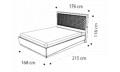 Кровать Rombi 160х200 с под.мех. Nabuk 12