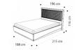 Кровать Rombi 180х200 с под.мех. Nabuk 11