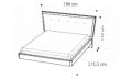 Кровать URANO 160х200