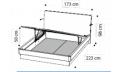 Кровать ECLISSE 160х200 с под.мех.