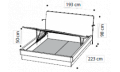 Кровать ECLISSE 180х200 с под.мех.