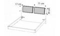 Комплект подушек д/кровати ECLISSE эко-кожа Nabuk 12