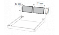 Комплект подушек д/кровати ECLISSE эко-кожа Visone
