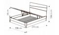 Кровать Storm 180х200 с под.мех.Luna