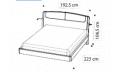 Кровать SINKRO 180х200