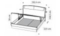 Кровать SINKRO 180х200 с под.мех.