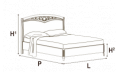 Кровать сп. место 160Х200 CURVO FREGGIO CAPITONNE Эко-кожа Nabuk4267