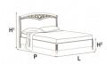Кровать сп. место 180Х200 CURVO FREGGIO CAPITONNE Эко-кожа Nabuk4267