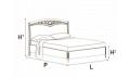 Кровать сп. место 120Х200 CURVO FREGGIO