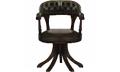 Кресло крутящееся экокожа зелёная