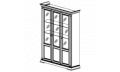 Витрина 3-х дверная Alta со стеклянными полками