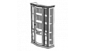 Витрина 3-х дверная (Cristalliera) с тканью