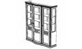 Витрина 3-х дверная с зеркалом