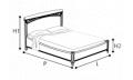 Кровать 180х200 без изножья