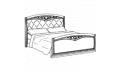 Кровать сп. место 160Х200 CURVO Ferro Capitonne