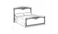 Кровать сп. место 120Х200 CURVO-ferro