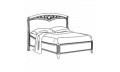 Кровать сп. место 140Х200 CURVO-ferro без изножья