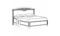 Кровать сп. место 180Х200 CURVO-ferro без изножья