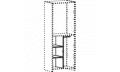 Модуль перегородка + 2 полки + штанга