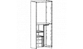 Модуль перегородка + 1 полка + штанга кассетница