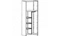 Модуль перегородка + 3 полки + штанга