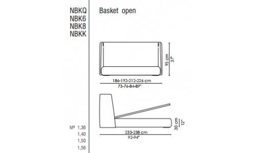 Двуспальная кровать Bonaldo Basket open с ценой и фото в Симферополе