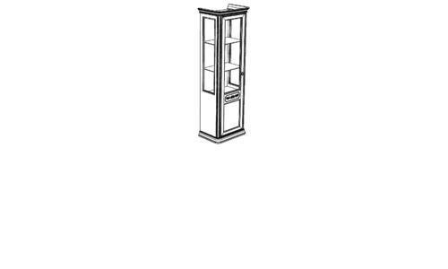 Витрина 1-дверная DRITTA (левая) с зеркалом с ценой и фото в Симферополе