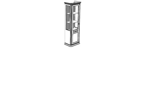 Витрина 1-дверная DRITTA (левая) с тканью с ценой и фото в Симферополе