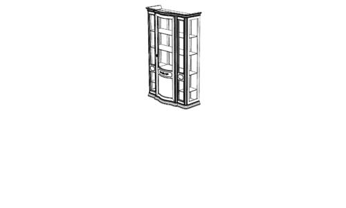 Витрина 3-х дверная (Cristalliera) с зеркалом с ценой и фото в Симферополе