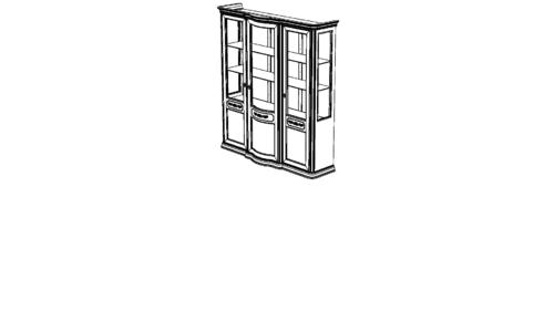 Витрина 3-х дверная с зеркалом с ценой и фото в Симферополе