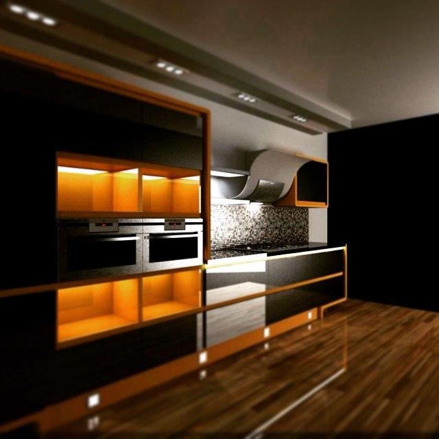 Проект кухни в стиле Хай-тек